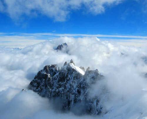 Above the clouds..