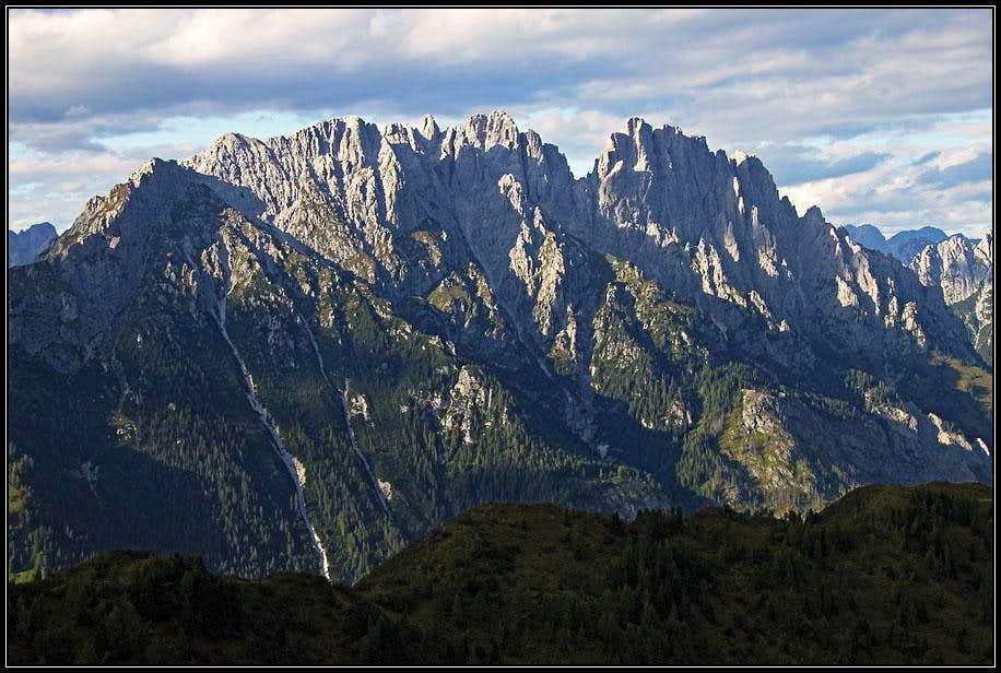 Creton di Clap Grande and Creton di Culzei from Monte Rioda