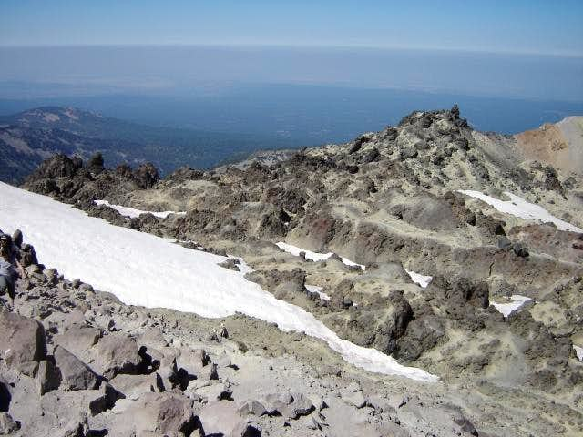 Looking west from Lassen Peak...