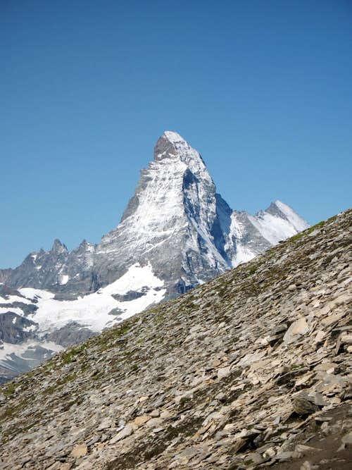 Matterhorn between Grandes Murailles and Dent d\'Herens