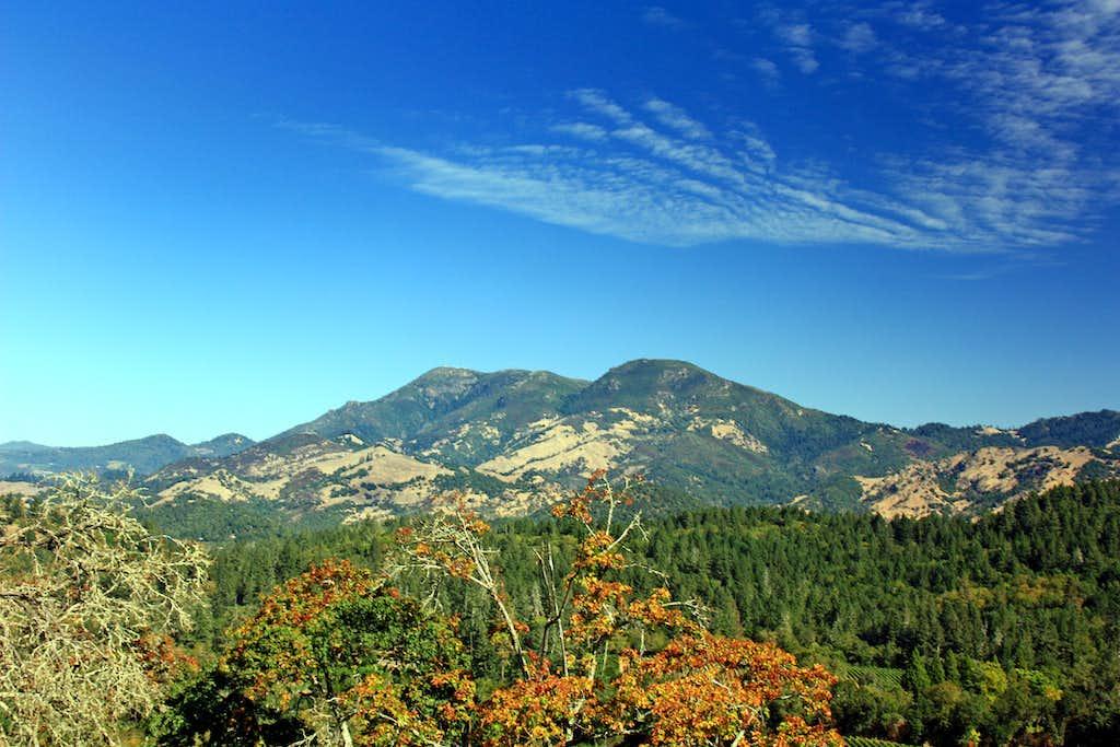 Mt. St. Helena from across Napa Valley