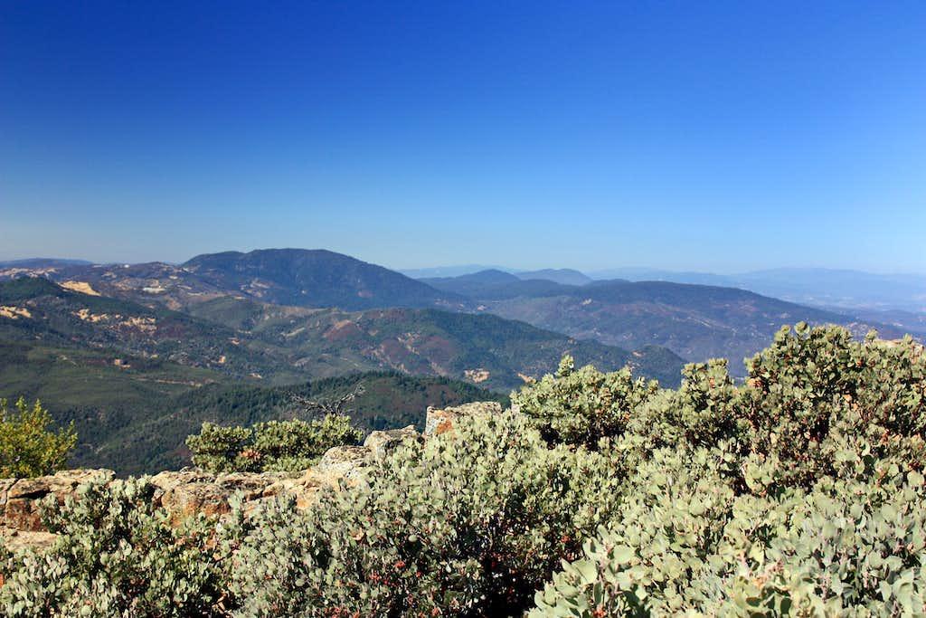 North from Mt. St. Helena North Peak