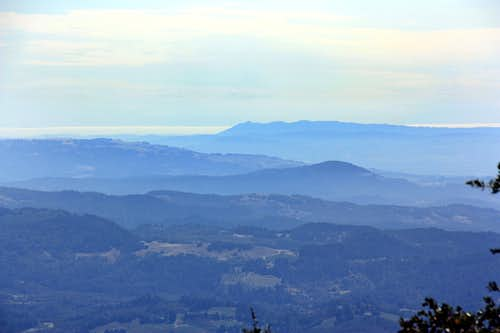 South to Mt. Tamalpais from Mt. St. Helena