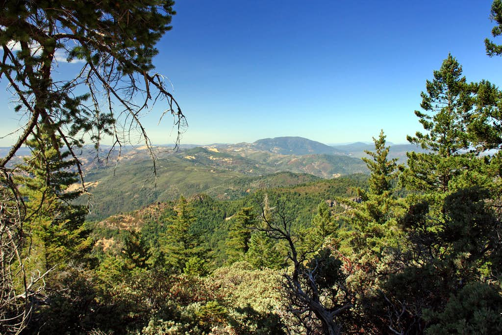 North to Cobb Mtn. from Mt. St. Helena