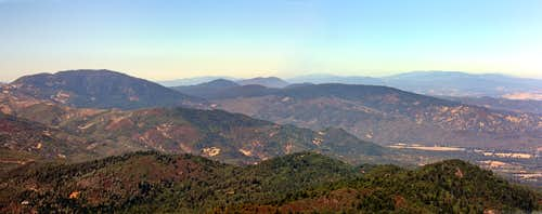North from Mt. St. Helena