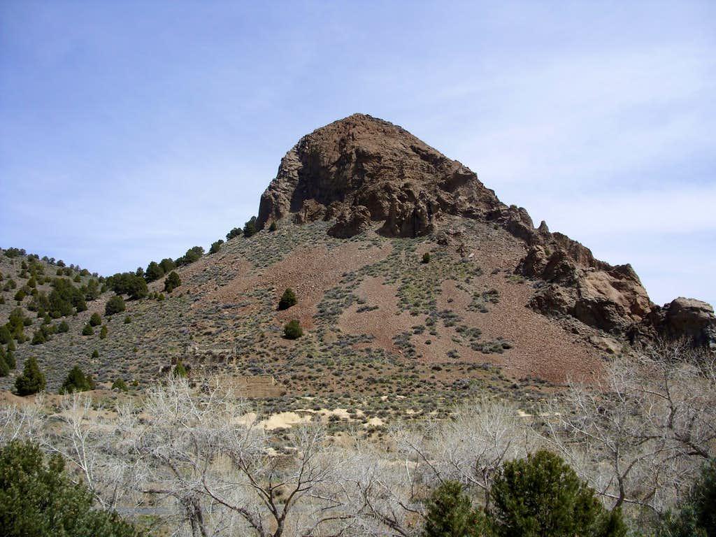 Zoom shot of Sugarloaf west face