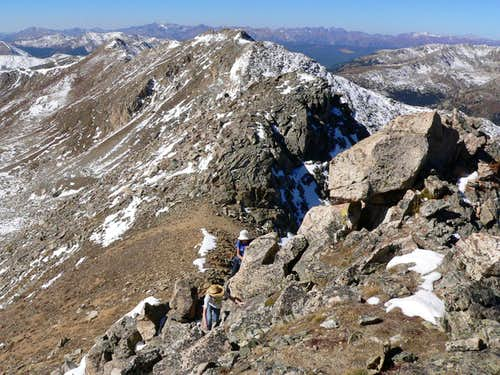 Ascending W Ridge of Geissler Mtn E Summit