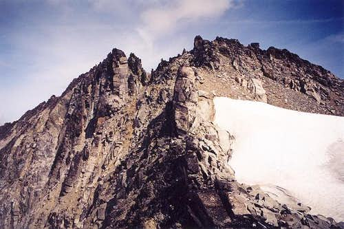 The summit ridge of Austera...