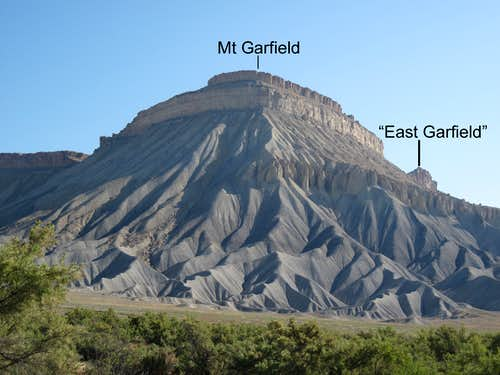 Mt. Garfield and  East Mt. Garfield