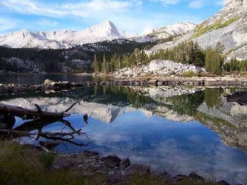 Morning reflection in Pine Lake