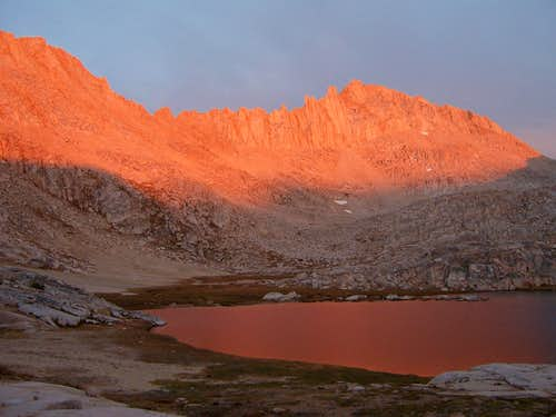 Evening Alpenglow on Feather Peak