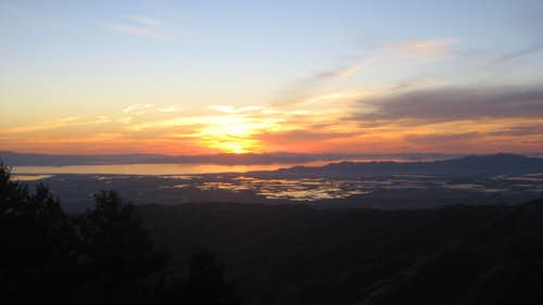 View of GSL Sunset From Summit