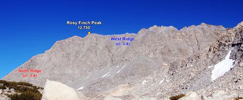 Rosy Finch Peak & Traverse to Pyramid Peak (Photo Topo)