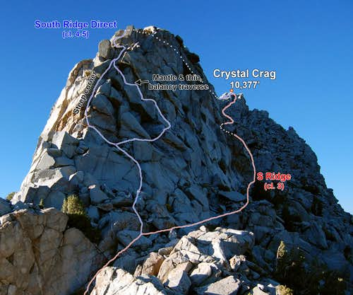 Crystal Crag South Ridge (Photo Topo)