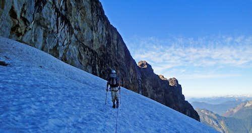 Descending High On Sloan Glacier