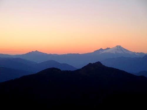 Twin Sisters And Mt Baker