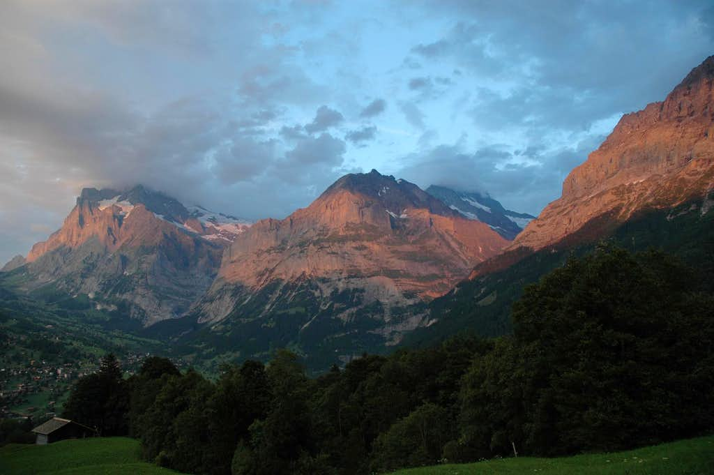 Sunset in Grindelwald