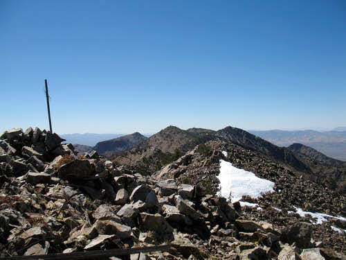 The summit & the snow patch