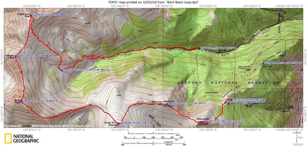 Bard Creek Basin loop