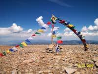 Jicarita Peak flags