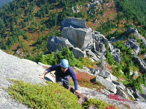 Scrambling Up Bald Mountain