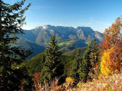 The Untersberg in autumn, seen from the Rossfeld