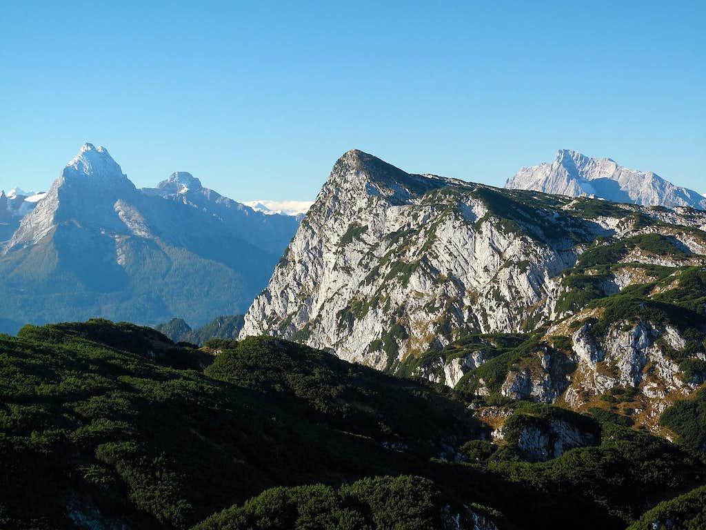 Watzmann (2713m), Grosser Hundstod (2593m)...