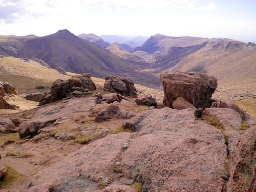 South from the summit of