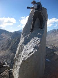 Summit block climbing