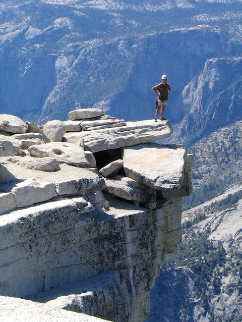 On the summit of Half Dome...