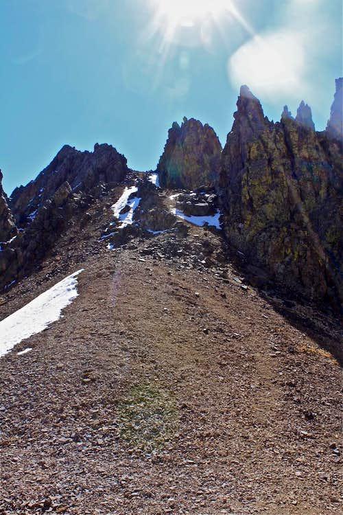 Kismet slopes from the Lavender Col