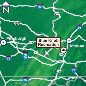 Road map to Blue Knob. From...