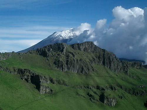 Popocatepetl seen from the...