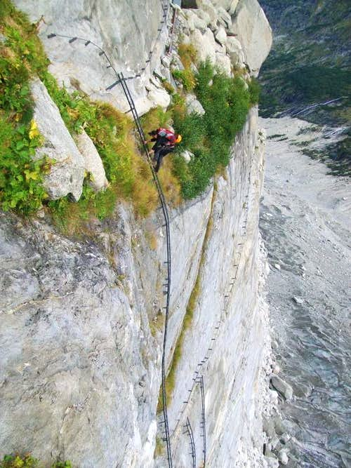 The ladder that leads to Mer de Glace