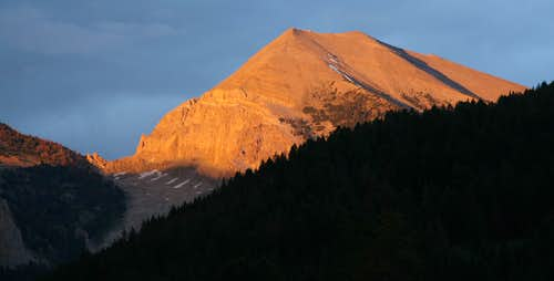 Shoal Peak, Sunset