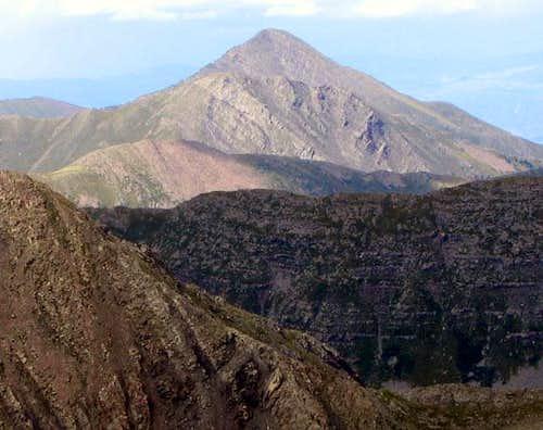 Digital zoom of Horn Peak...