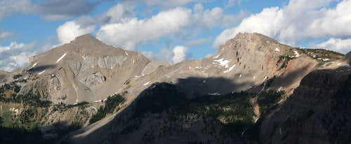 Antoinette Peak and Open Door Mountain