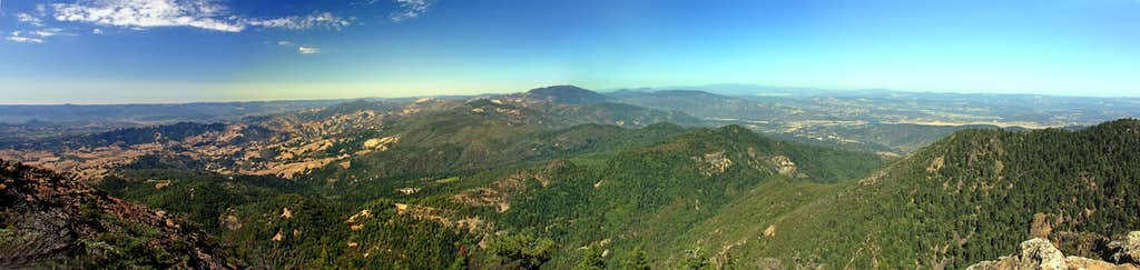 North panorama from Mt. St. Helena