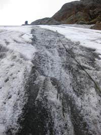 Steep ice towards Monte Pasquale