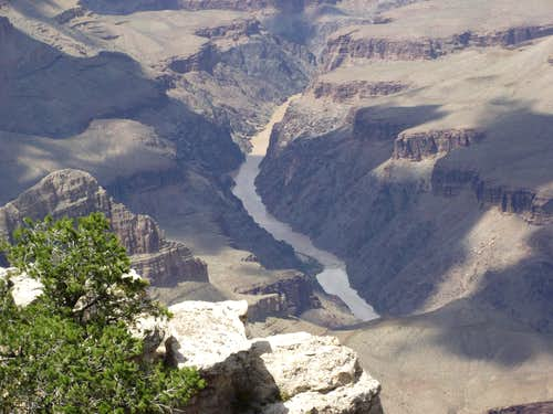 Colorado River Winds through Grand Canyon