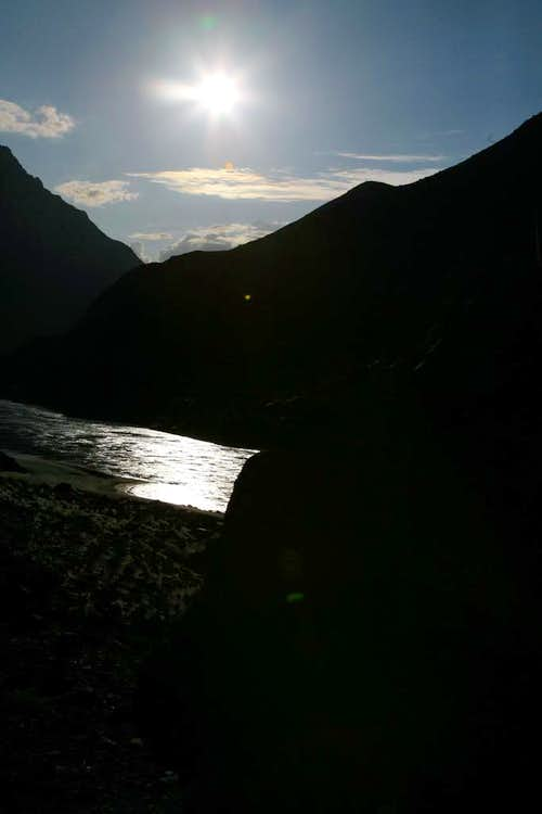 Sunset and Indus River