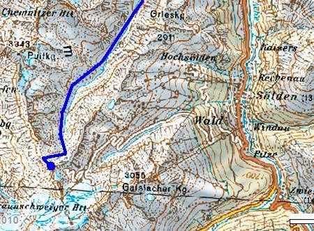 Descent Route Map