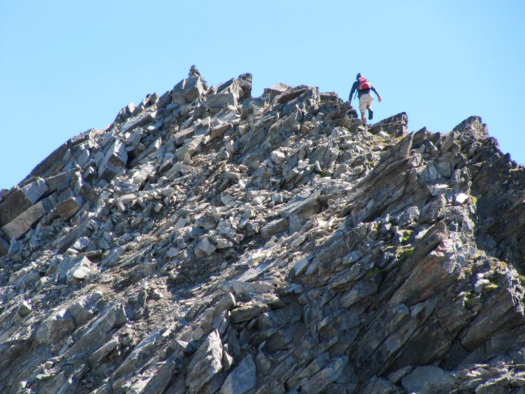 Ascending the Summit Block