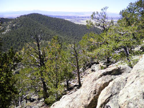 West from rocky summit area