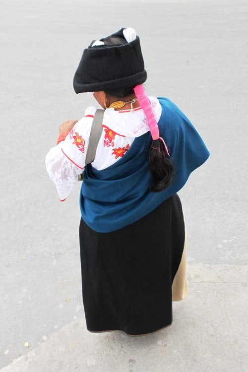 Local woman in traditional costume