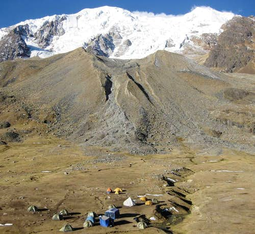 Illimani base camp