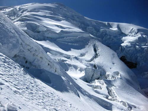Hidden crevasses on Illimani
