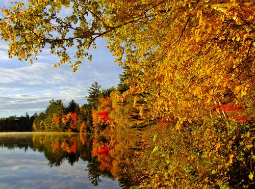 Fall Foliage on Lower Togue Pond