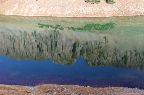 Reflections in the Middle Blue Lake