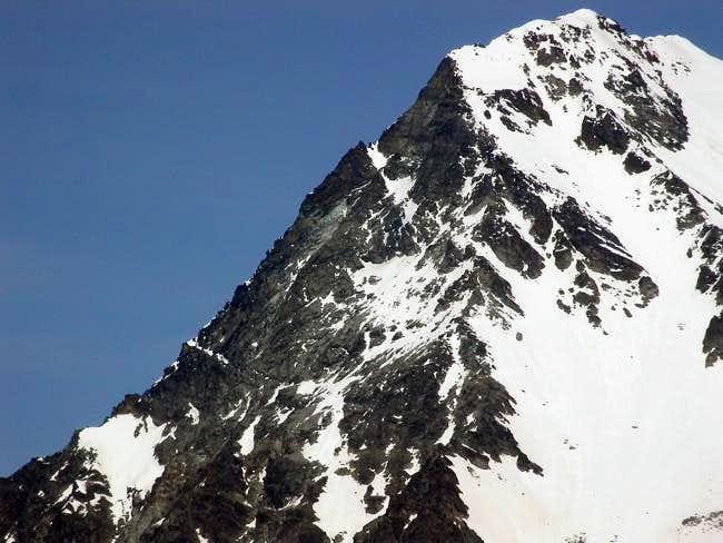 il Mont Gelè (3518 m.) cresta...